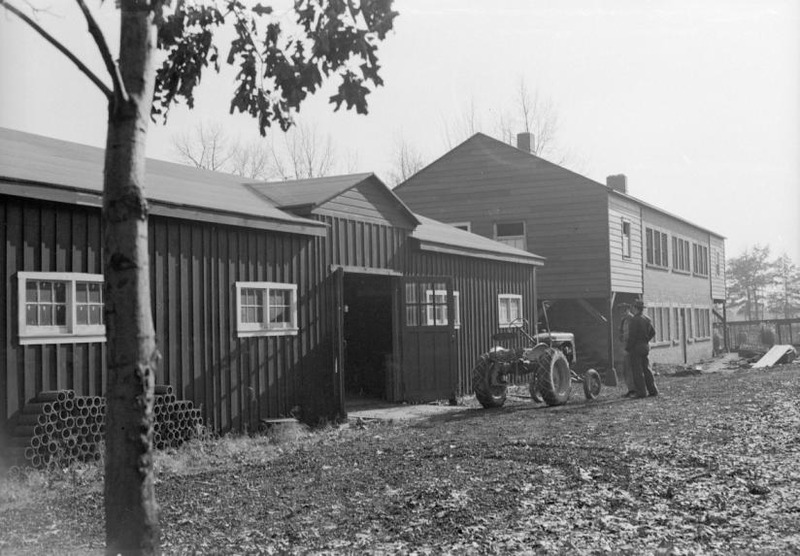 Garage and Instrument Building, 1949