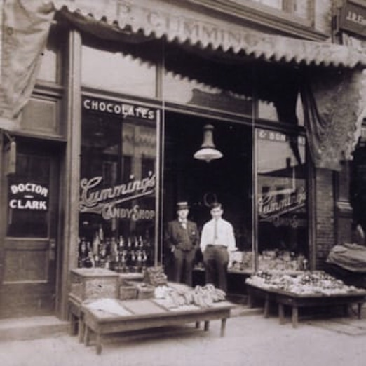 Cummings Candy Shop, early 1900s