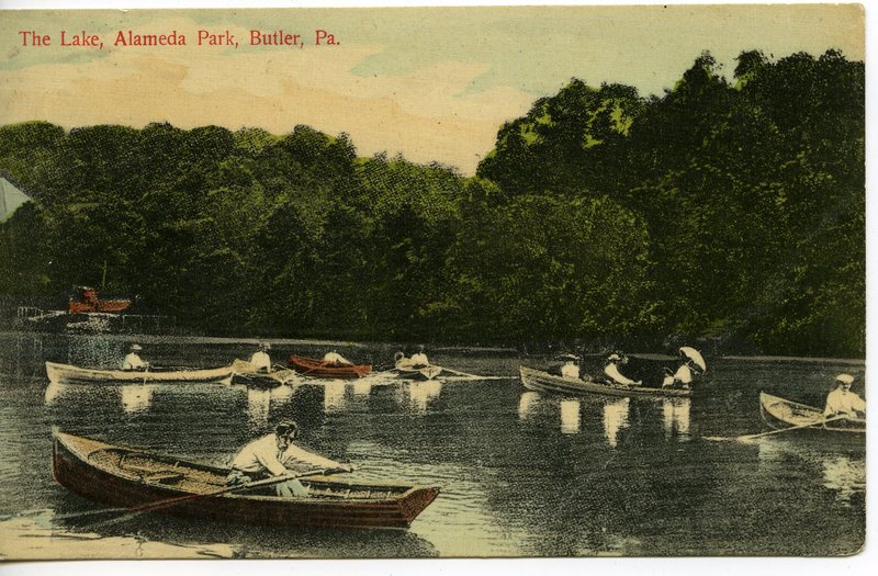 Boaters on the Pond